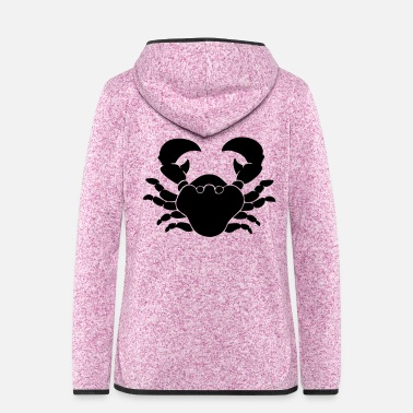Crab crab - Women's Hooded Fleece Jacket