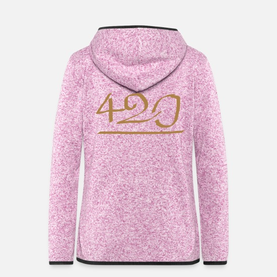 Rap Jackets & Vests - 420 - Women's Hooded Fleece Jacket purple heather