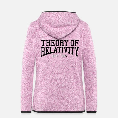 Established Theory of Relativity - Est. 1905 (Over-Under) - Women's Hooded Fleece Jacket