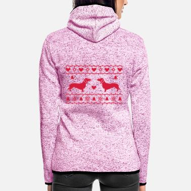 Xmas X-Mas Dackel - Women's Hooded Fleece Jacket