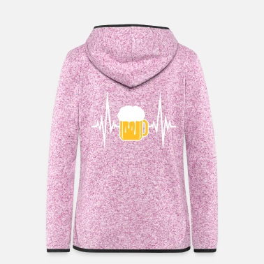 Pulse pulse, pulse, pulse, stroke, beer, jug, octoberfes - Women's Hooded Fleece Jacket