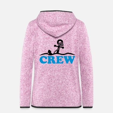 Under Water Anchor under water waves crew design - Women's Hooded Fleece Jacket