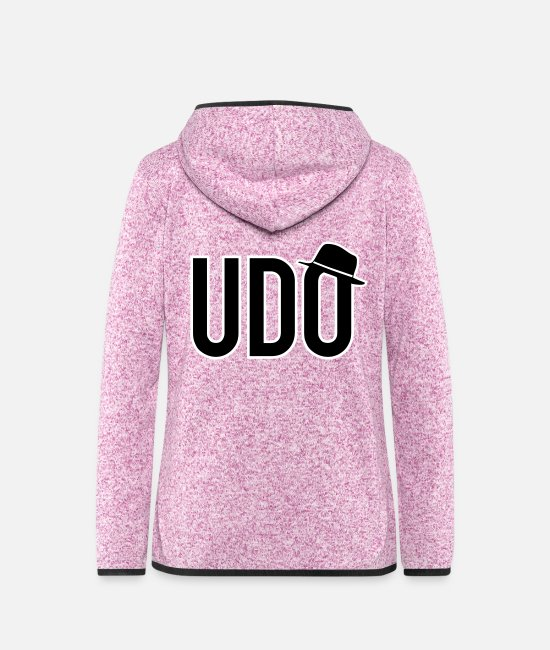 Singer Jackets - UDO hat - Women's Hooded Fleece Jacket purple heather