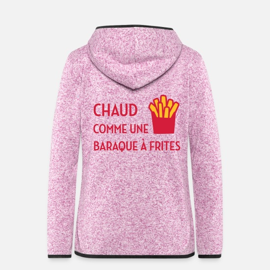 Humour Vestes - sexe / drague / seduction / fête / sexy / sex - Veste à capuche polaire Femme lilas chiné
