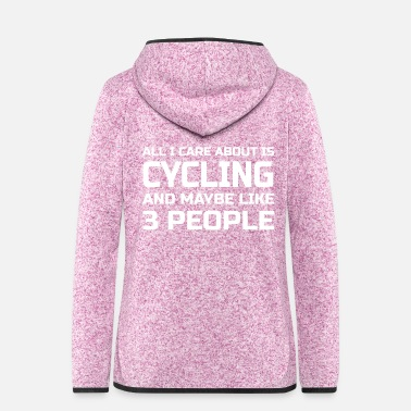 Cycling Care about Cycling - Women's Hooded Fleece Jacket