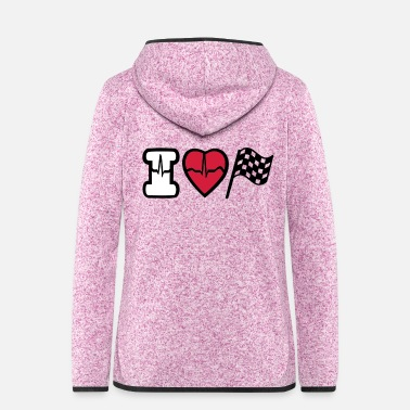 Motor Race i love motor race - Frauen Fleece Kapuzenjacke