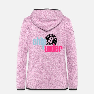 Chip Leader Poker - Chip Luder - PrintShirt.at - Women's Hooded Fleece Jacket