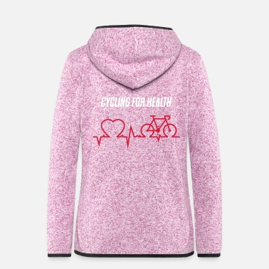 Health DIV-500-O: CYCLING FOR HEALTH - Frauen Fleece Kapuzenjacke