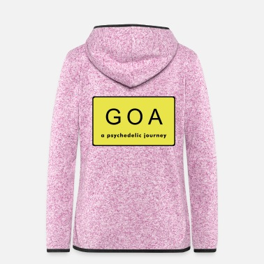 Goa GOA sign - Frauen Fleece Kapuzenjacke