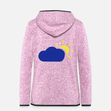 Cloudy cloudy - Women's Hooded Fleece Jacket