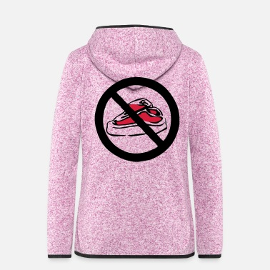 Animal Rights Activists no_red_meat - Women's Hooded Fleece Jacket