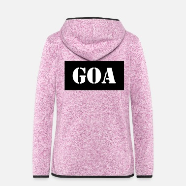 Goa Goa - Frauen Fleece Kapuzenjacke