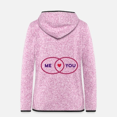Love You Intersection Me You Heart (set circles) - Women's Hooded Fleece Jacket