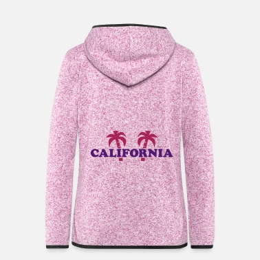 Staat California (Zwei Palmen) - Frauen Fleece Kapuzenjacke