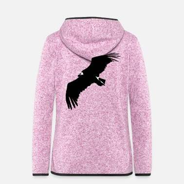 Swine Flu VULTURE IN FLIGHT - Women's Hooded Fleece Jacket
