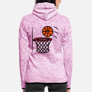 Korb Basketball korb - Frauen Fleece Kapuzenjacke