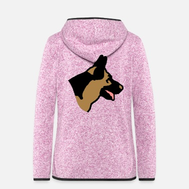 German Shepherd German - Women's Hooded Fleece Jacket
