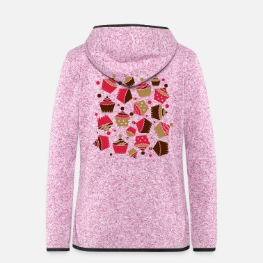 Mouth many jumbled cupcakes - Women's Hooded Fleece Jacket