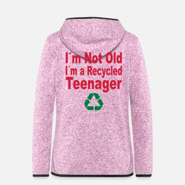 Old not old - Women's Hooded Fleece Jacket