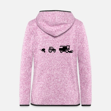 Drive Agricultural machinery wheelbarrow tractor and combine harvester - Women's Hooded Fleece Jacket
