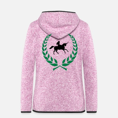 Ride A Horse Unicorn Laureate - Women's Hooded Fleece Jacket