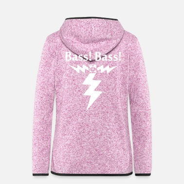 Bass Bass! Bass! Power - Frauen Fleece Kapuzenjacke