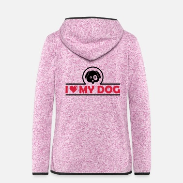 Paw i love my dog 02 - Women's Hooded Fleece Jacket