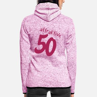 Attraktiv attraktive 50 - Frauen Fleece Kapuzenjacke
