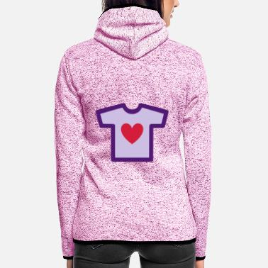 Shape Underwear ★ Design colors changeable ★ T-shirt with heart - Women's Hooded Fleece Jacket