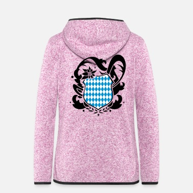 Munich A Bavarian emblem - Women's Hooded Fleece Jacket