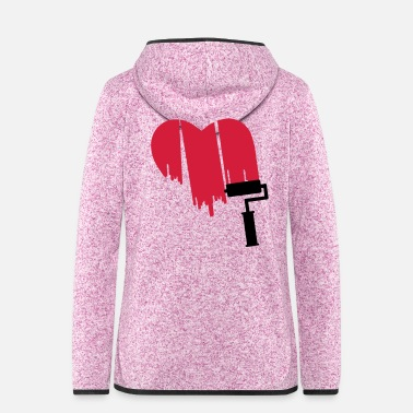 Painter heart painter - Frauen Fleece Kapuzenjacke