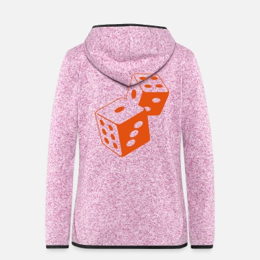 Casino Two dice at the casino - Women's Hooded Fleece Jacket