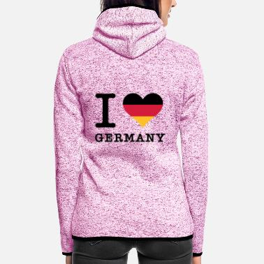 Streaker I Love Germany - Women's Hooded Fleece Jacket