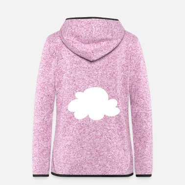 Cloud Cloud 7 sheep clouds icon - Women's Hooded Fleece Jacket