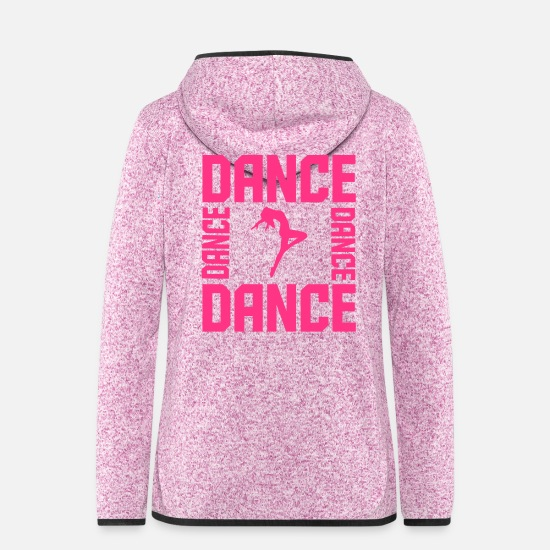 Ballet Dancer Jackets - Dance - Women's Hooded Fleece Jacket purple heather