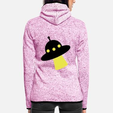 Clipart UFO Alien Comic Clipart - Frauen Fleece Kapuzenjacke