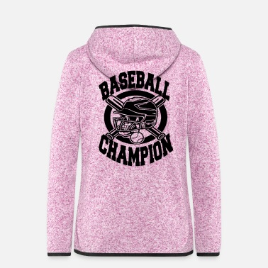 Baseball Baseball champion - Frauen Fleece Kapuzenjacke