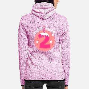 Birthday Two years old - Women's Hooded Fleece Jacket