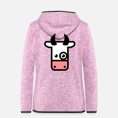 Koe Kuh / Cow / Vache / Vaca / Vacca / Koe (3c) - Women's Hooded Fleece Jacket
