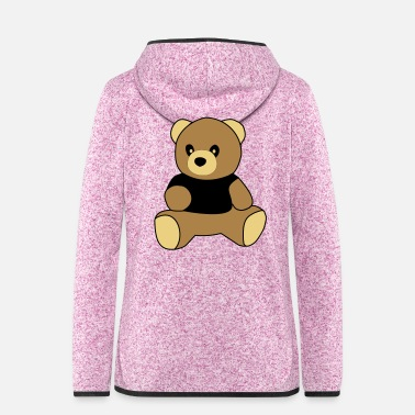 Sit sitting teddy - Women's Hooded Fleece Jacket