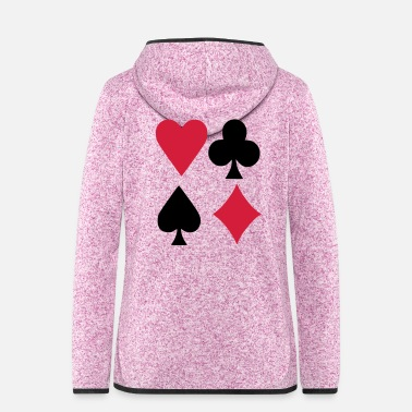 Poker Poker - Frauen Fleece Kapuzenjacke