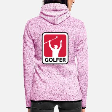 Golf Golfer - Frauen Fleece Kapuzenjacke
