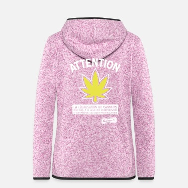 Labo Attention cannabis !!! - Veste à capuche polaire Femme