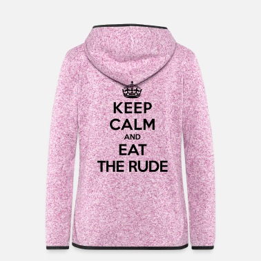 Rude Keep calm and eat the rude (Hannibal) - Veste à capuche polaire Femme