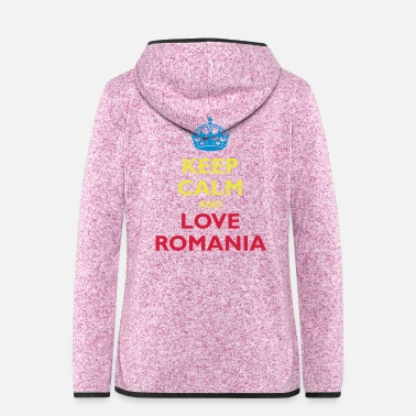 Siebenbürgen Keep Calm & Love Romania - Frauen Fleece Kapuzenjacke