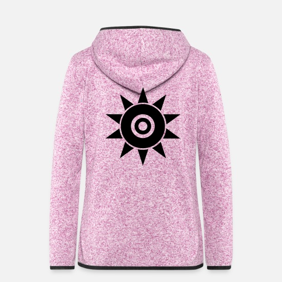 Tanning Jackets & Vests - black super sun ingenious star beautiful design - Women's Hooded Fleece Jacket purple heather