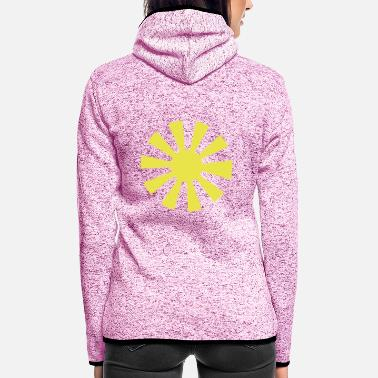 Bright The Sun bright sky beams - Women's Hooded Fleece Jacket