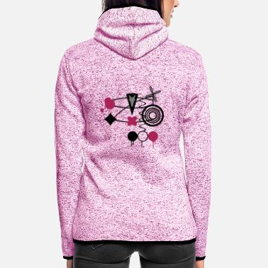 Abstract Abstract - Women's Hooded Fleece Jacket