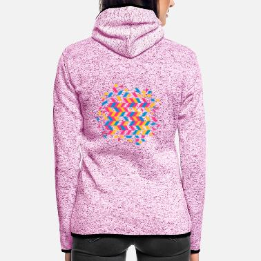 Pattern A herringbone pattern - Women's Hooded Fleece Jacket