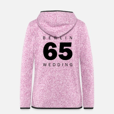 Stadtteil Wedding - Frauen Fleece Kapuzenjacke